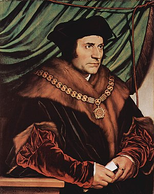 Sir Thomas More wearing the Collar of Esses as...