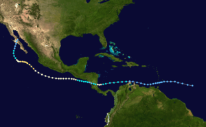 Track map of the hurricane