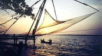Cheena vala (Chinese fishing nets). Kochi is t...