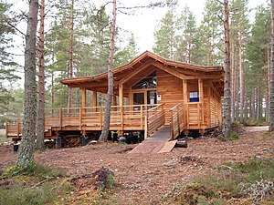 English: Log Cabin This log cabin is situated ...
