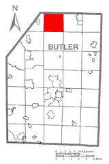 File:Map of Marion Township, Butler County, Pennsylvania