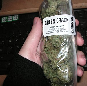 English: An ounce of Green Crack bought from a...