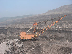 English: 2006: Russia; Mining equipment in Mez...
