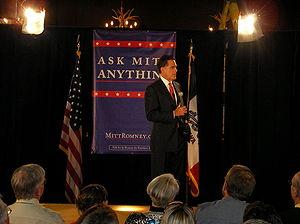Former Massachusetts Gov. Mitt Romney, a GOP p...