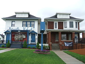 in front of motown studios, detroit usa