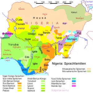 Language Groups and important languages of Nigeria