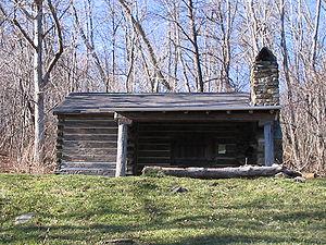 The Pocosin cabin along the trail in Shenandoa...