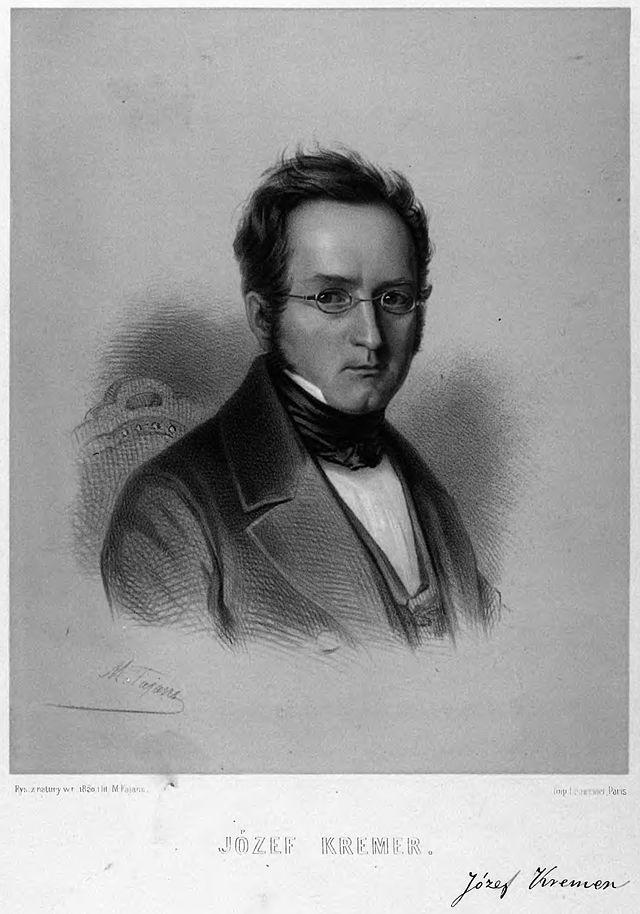 Portrait of Józef Kremer by Maksymilian Fajans. Cropped.