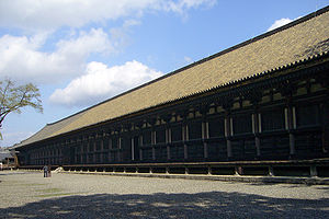 Sanjusangen-dō, a buddhist temple in Kyoto, Japan