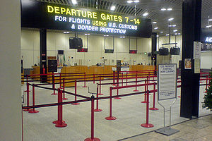 US Immigration and Customs at Shannon Airport,...
