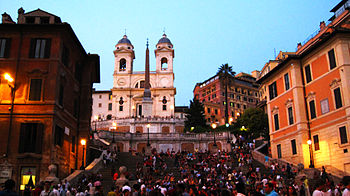 English: The Spanish Steps, as seen from the F...