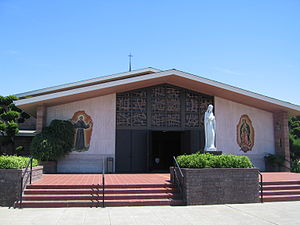 Front of St. Lucy Parish Church, Campbell, CA