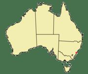 Location of Sydney within Australia