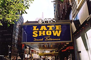 The studio where The Late Show with David Lett...