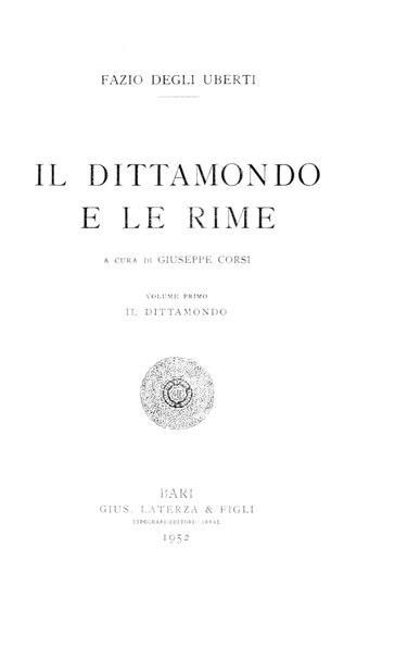 File:Uberti, Fazio degli – Il Dittamondo, 1952