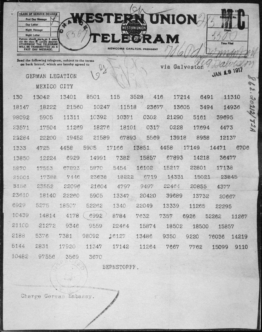 medium resolution of Zimmermann Telegram - Wikipedia