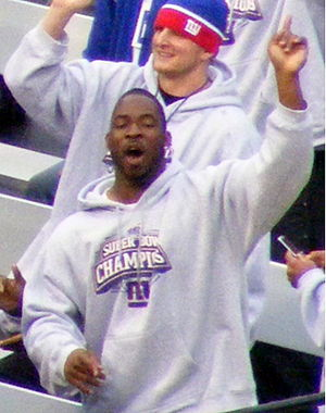 Giants Stadium - Justin Tuck at the Giants Ral...
