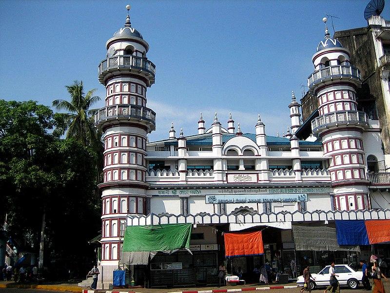 Bengali Sunni Jameh Mosque, Yangon.jpg