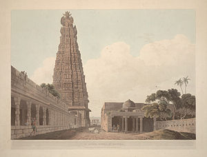 "English: ""An Hindoo Temple, at Madura,&qu..."