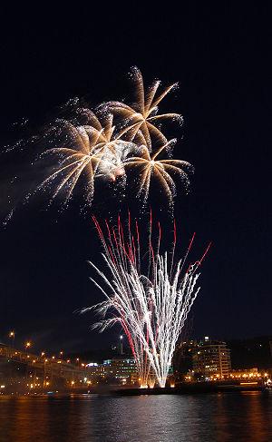 4th of july fireworks in Portland, Oregon.