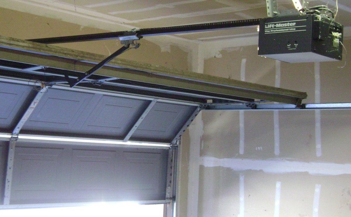 roller garage door wiring diagram parts explosion opener - wikipedia