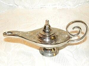 English: Genie lamp, oil lamp, Aladdin's lamp,...