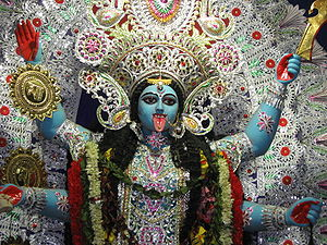 Picture of Hindu Goddess Kali. This photograph...