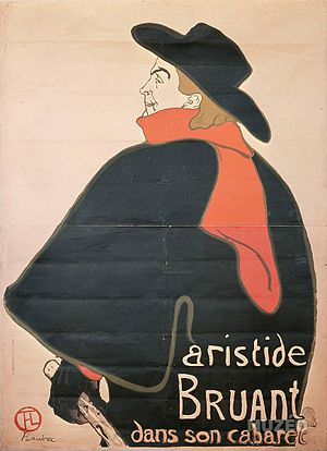 Aristide Bruant in his Cabaret painting by Tou...