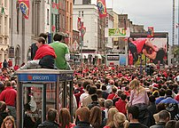 Munster fans in Limerick during the 2006 Heineken Cup