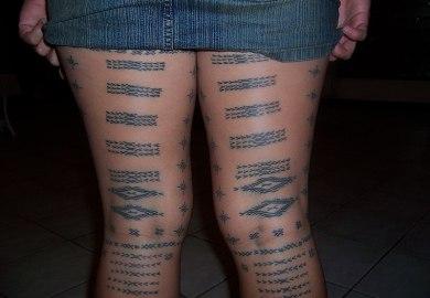 Samoan Leg Tattoo Designs