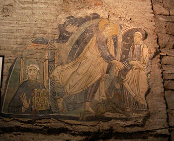 Early Christian Fresco depicting Christ in Pur...