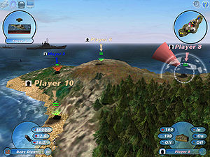 Official screenshot of Scorched 3D, an artille...