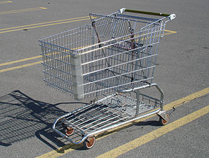 Standard shopping cart, picture taken at a Weg...
