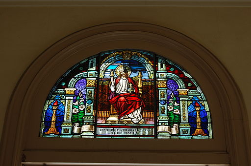 USA-San Jose-Cathedral Basilica of Saint Joseph-Front Stained-Glass Window-2