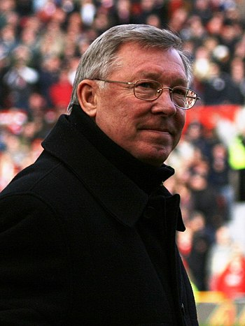 Alex Ferguson, manager of Manchester United F.C.