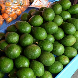 English: Very nice avocados (Thai script: อาโว...