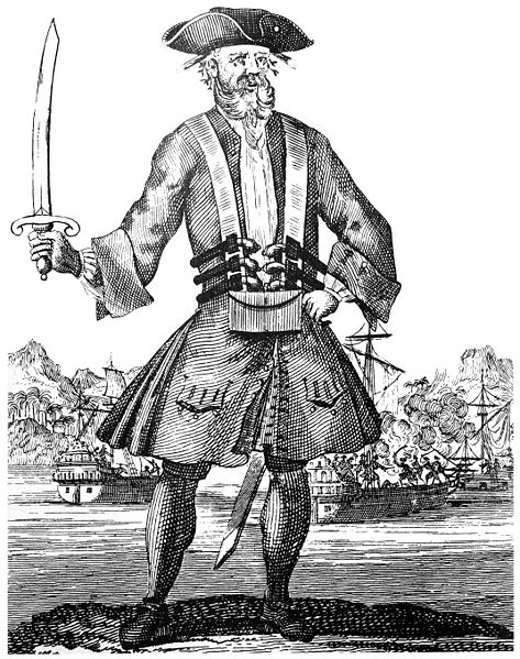 Blackbeard (18th century lithograph)