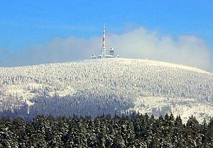 Summit of the Brocken, seen from Torfhaus (5 km)