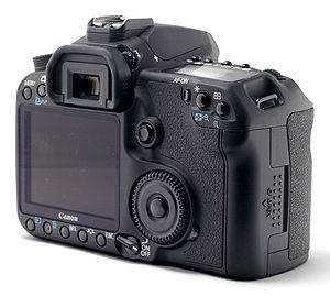 Photo of the Canon EOS 50D Digital, from the back.