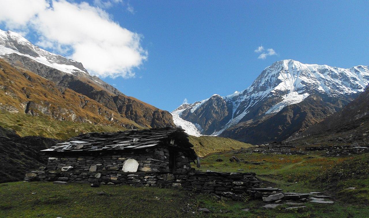 Mountain Wallpaper Hd File Changuch With Hut Uttarakhand India Jpg Wikimedia