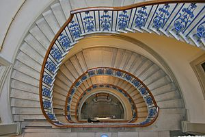Staircase at the Courtauld Gallery, London, En...