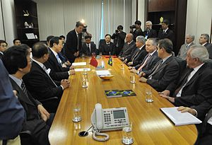 Brasília - Os ministros da Agricultura do Bras...