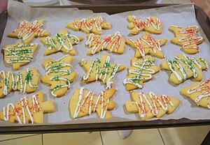 Christmas sugar cookies.