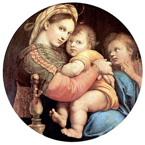 madonna of the chair burlap sashes della seggiola wikipedia