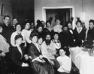 Rasputin and his admirers, 1914 This image has...