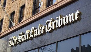 Marquee of The Salt Lake Tribune on the Tribun...