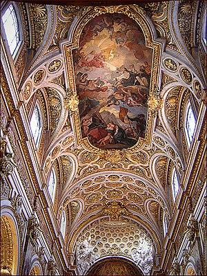 Interior of Church San Luigi dei Francesi, Rom...