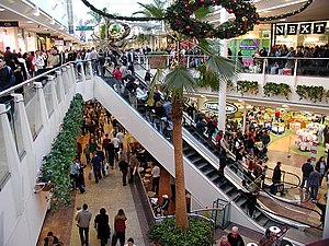 An out-of-town shopping centre: The Mall, Patc...
