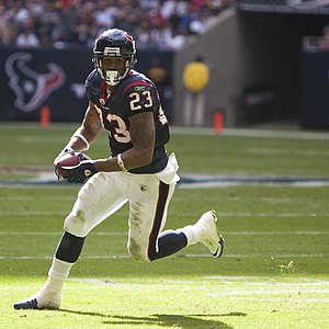 Arian Foster, running back for the Houston Tex...