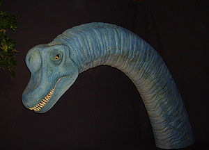 Brachiosaurus animatronic model